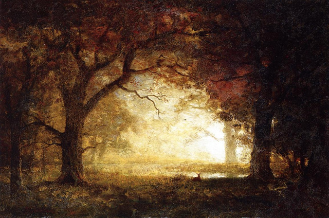 Forest Sunrise - Albert Bierstadt