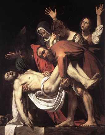 The Entombment of Christ - Amerighi da Caravaggio